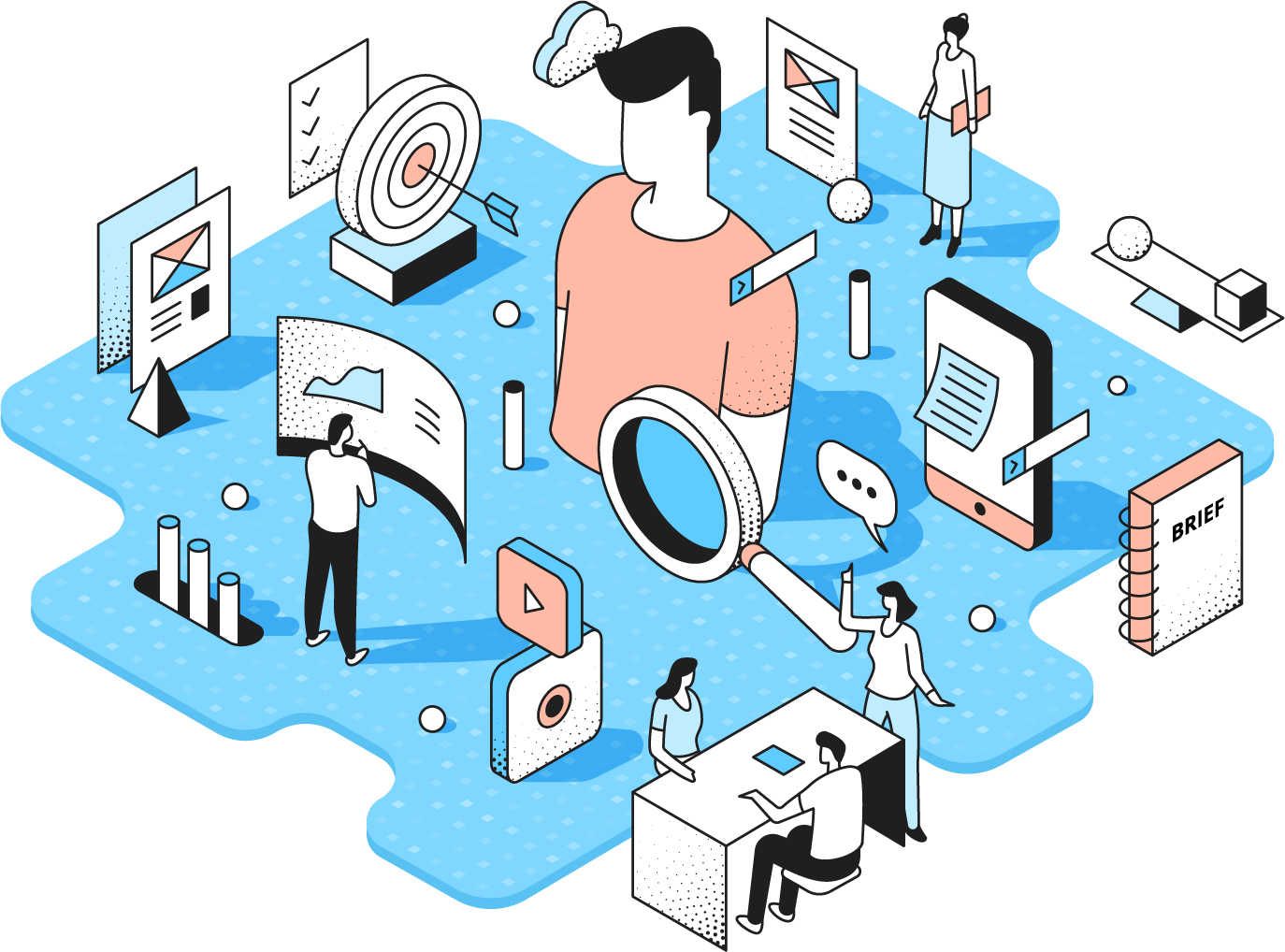 illustration showing the components that go into finding your target market