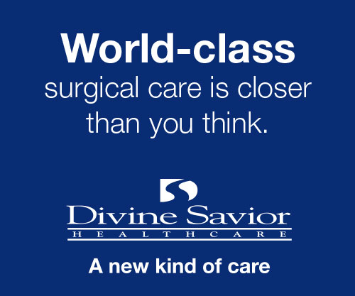 Divine Savior Healthcare digital ad; world-class care is closer than you think