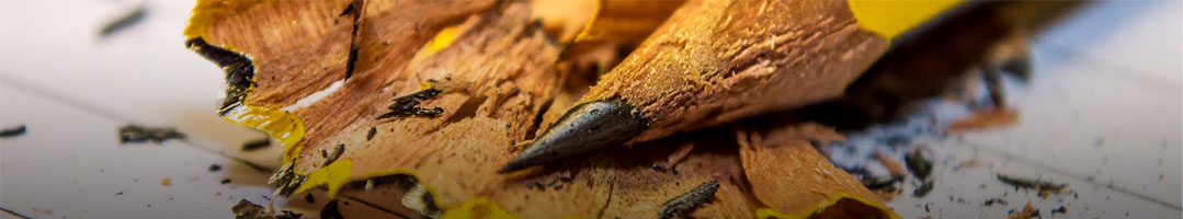 closeup of a pencil tip and shavings