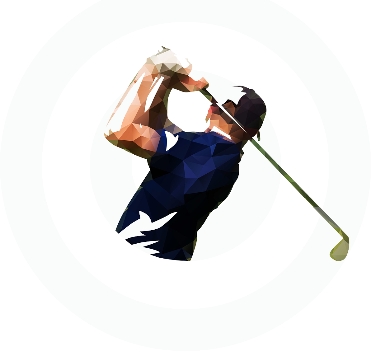 illustration of a golfer